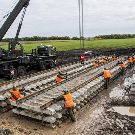 строительство железных дорог предприятия